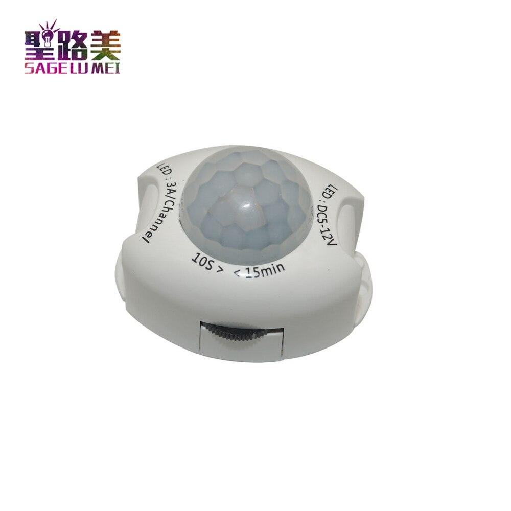 PIR Motion Sensor Light Switch DC5V-DC12V Movement Detector Activated Timer Automatic Switch ON OFF LED Night Light Bedside lamp цена