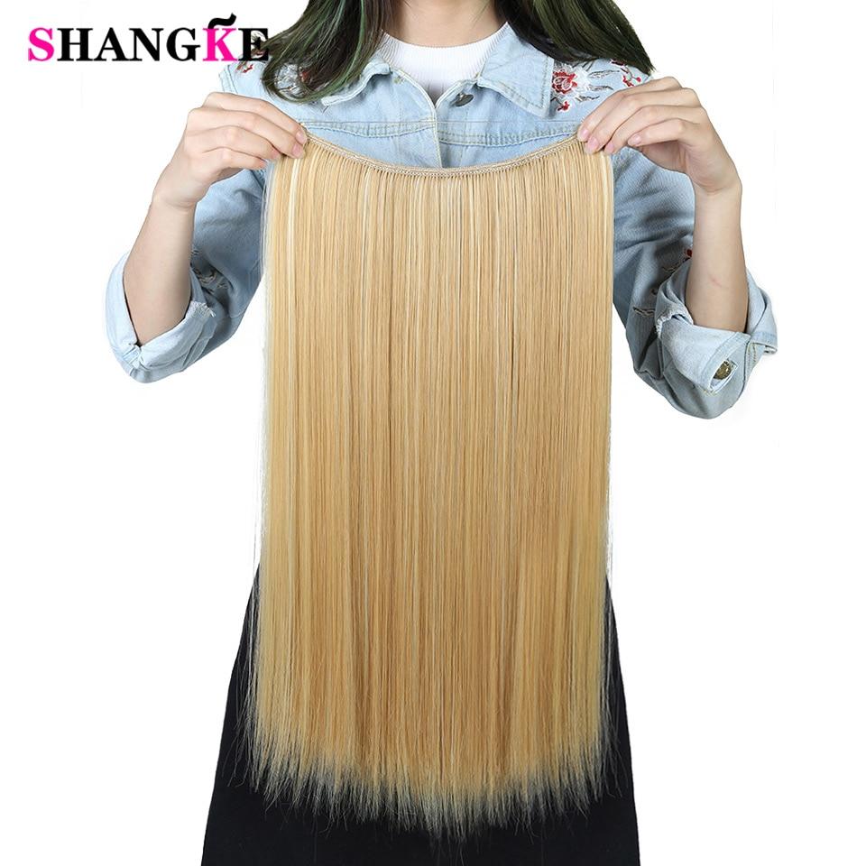SHANGKE 24 '' Flip On Wire I Syntetisk Hårförlängning Dold Osynlig - Syntetiskt hår - Foto 1
