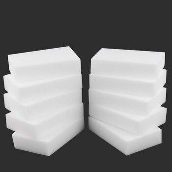 10PCX Melamine Sponge White Magic Sponge Eraser Melamine Cleaner Multi-Functional Eco-Friendly Kitchen Magic Eraser 100*60*20mm 1