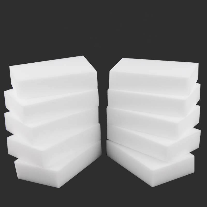 10PCX Melamine Sponge White Magic Sponge Eraser Melamine Cleaner Multi-Functional Eco-Friendly Kitchen Magic Eraser 100*60*20mm