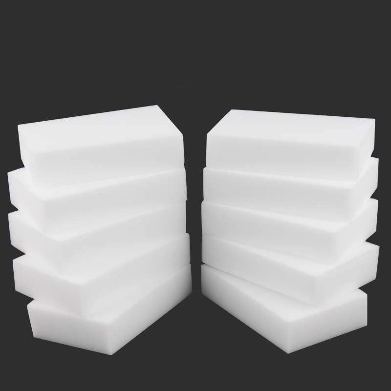10PCX Melamine Sponge White Magic Sponge Eraser Melamine Cleaner Multi-Functional Eco-Friendly Kitchen Magic Eraser 100*60*20mm