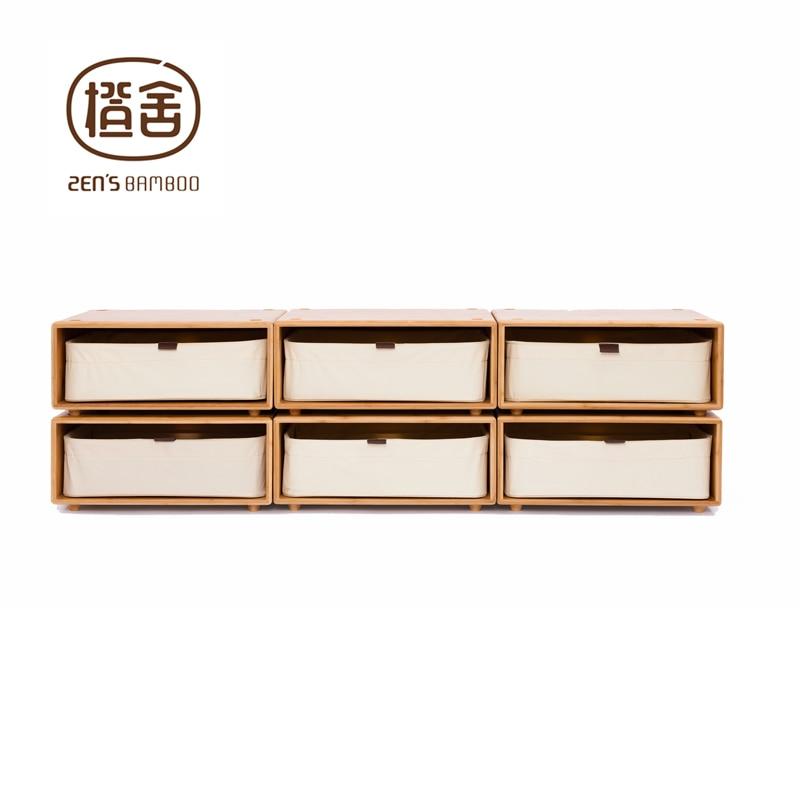 aliexpress koop zen s bamboe ladenkast kleine opslag