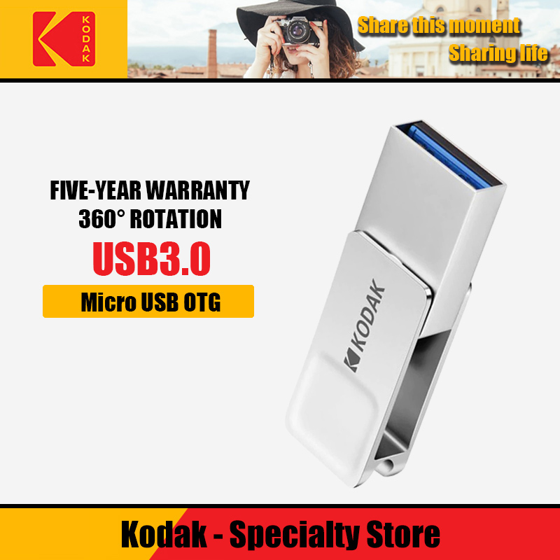 Kodak USB Flash Drive USB3.1 памяти stick16GB 32 GB 64 GB Micro USB OTG двойной Интерфейс металла U диск USB 3,0 флешки K223B