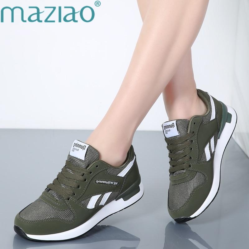 Formateurs Panier Femme Sneakers vert Confortable gris noir Des forme Beige Casual Unisexe Maziao Plate Chaussures Femmes Appartements gUvxq