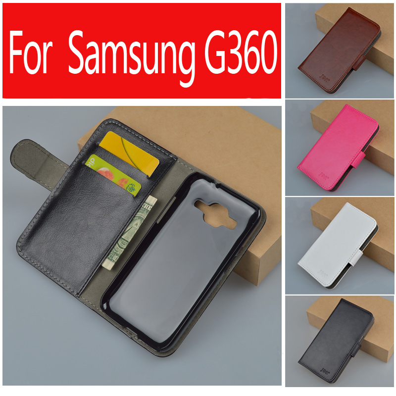 Leather Case For Samsung Galaxy Core Prime Prevail LTE G360 G360F G360H G361 G361F G361H VE SM-G361H SM-G360H SM-G361F J&R Cover