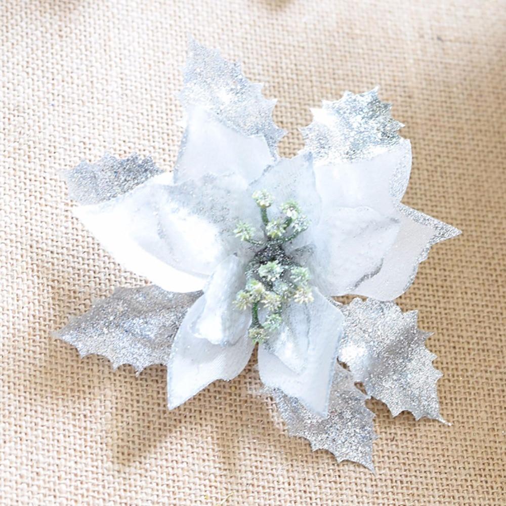 10 Unids / lote 17 cm Rojo / Dorado / Plata Exquisito Flores - Para fiestas y celebraciones - foto 1