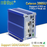 Minisys Small Linux Computer Kaby Lake 3865u Fanless Industrial Board Mini PC Dual Lan Embedded SIM