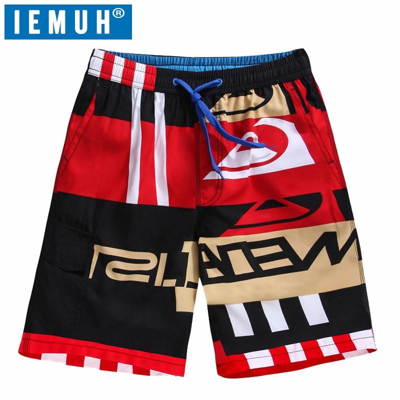 Pantalones cortos para hombre de talla grande IEMUH pantalones cortos de tabla de Surf de verano de deporte de playa Homme Bermudas pantalones cortos de secado rápido de plata más tamaño