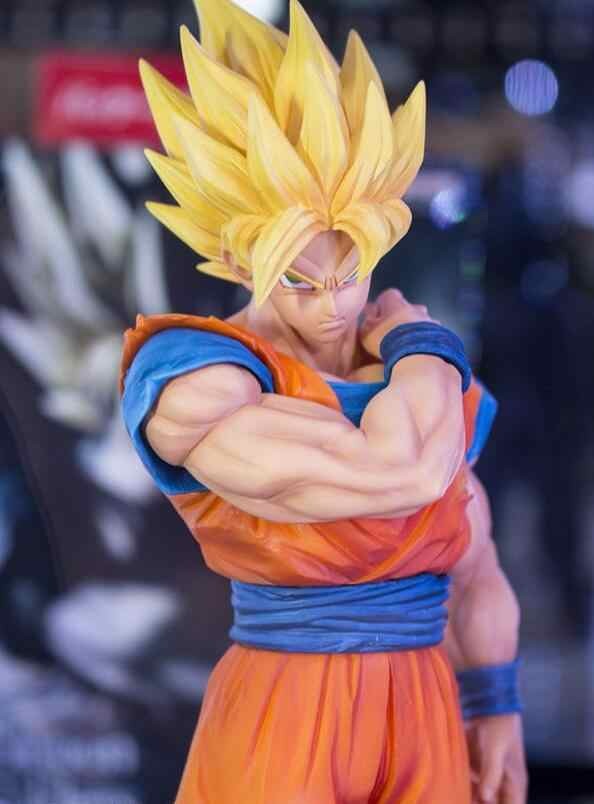 22 centímetros Dragon Ball Z Goku Ação PVC Figura Coleção Modelo brinquedos para presente de natal tem a base