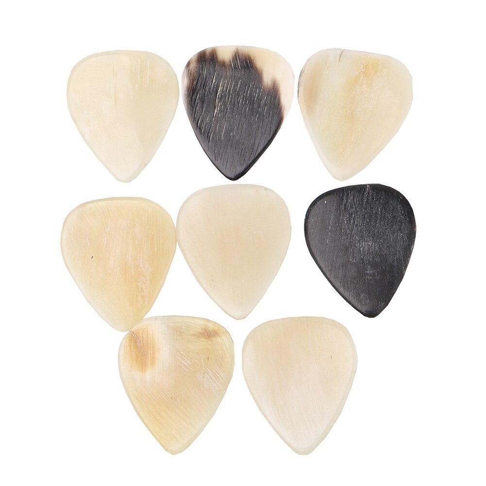 8PCS Guitar Picks Cattle Bone Guitar Picks 0.45mm Thickness For Acoustic And Electric Guitar, Bass Guitarra Pick