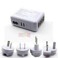 Белый 4 Порты USB стены Зарядное устройство 5 В 2.1A Адаптеры питания w/EU/AU/США/Великобритании Разъем для Ipad Iphone 5 для Samsung S4