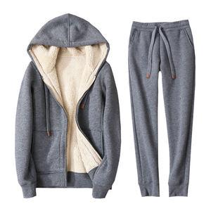 Image 5 - Autumn Winter Sweatshirt Women Plus Velvet Oversized Hoodies Jacket Long Sleeve Sweatshirt Sportswear Warm Womens Hoodies Z64
