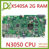 KEFU X540SA REV2.1 fit For ASUS X540SA dual core N3050 CPU Laptop motherboard WITH 2GB MEMORY test motherboard work 100%