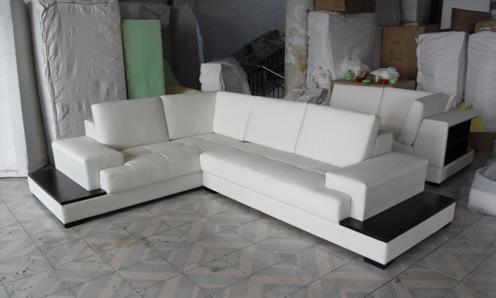 comprar envo gratis modern sofa set hecho con cuero genuino sof de la esquina con luz led sof muebles juego de sala lc de modern sofa