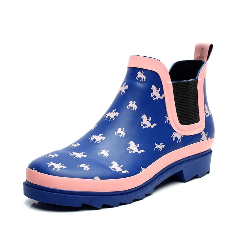 hit the color women s fashion rain boots water shoes Miss Han Ban shoes Seasons