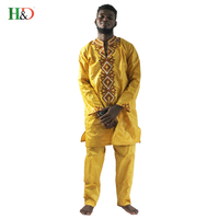 Free Shipping 2016 New Fashion African Traditional African Big Rich Man S Cotton Embroidered Clothing