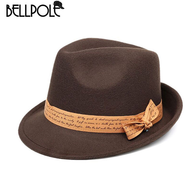 a69cccf32 US $12.88  Formal Hats Women Top Fashion Church Bowler Fedora Hats Men  Vintage Sombreros Pillbox Bucket Hat Gorros De Lana Mujer -in Fedoras from  ...