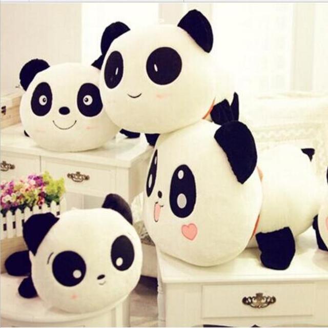 25 cm Travesseiro Panda Gigante Mini Plush Toys Stuffed Animal Toy Boneca Pillow Plush Doll Presente do Dia Dos Namorados