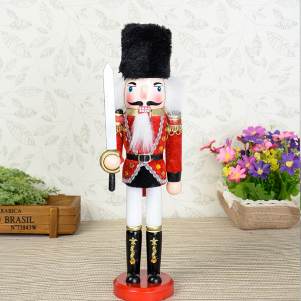 D322 Free shipping British style 30cm exquisite workmanship Nutcracker, wood hand-painted walnut puppets doll toy 1pcs oem simatic s7 300 digital output 6es7322 1bh01 0aa0 sm 322 16do 24vdc 0 5a sm322 i o module 6es7 322 1bh01 0aa0 free shipping