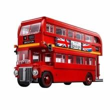 1716 Unids lepin 21045 Genuino Serie Técnica Del Autobús de Londres Set 10258 Modelo de Bloques de Construcción Ladrillos Niños Juguetes Educativos Regalos