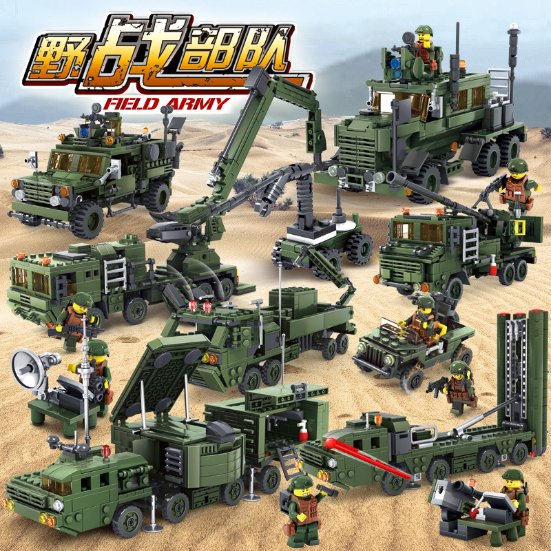 KAZI Military War Building Blocks Field Army Vehicle DIY 3D Construction Bricks Kids Action Figure Playmobil Toys for Children kazi military building blocks diy 16 in 1 world war weapons german tank airplane army bricks toys sets educational toy for kids