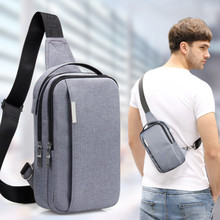 BYCOBECY Man Fashion Messenger Casual Travel Chest Bag Canvas Crossbody Back Pack Men's Shoulder Bag Multifunction Small Travel