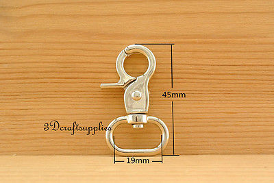 6pcs Lobster Clasps Clips Claw purse hooks Swivel snap hook light gold 3/4 inch G62