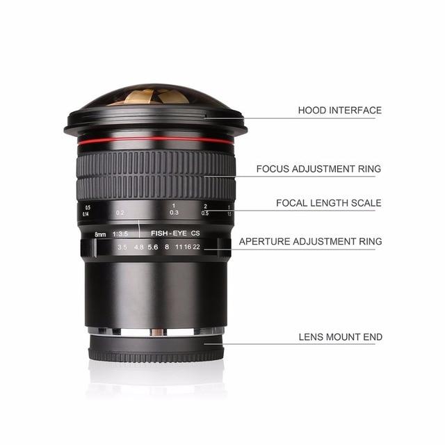 8mm f3.5 울트라 와이드 어안 렌 후지 X-T3 X-E3 X-T1 X-T2 X-T10 X-T20 X-A2 카메라 APS-C/풀 프레임 + 무료 선물