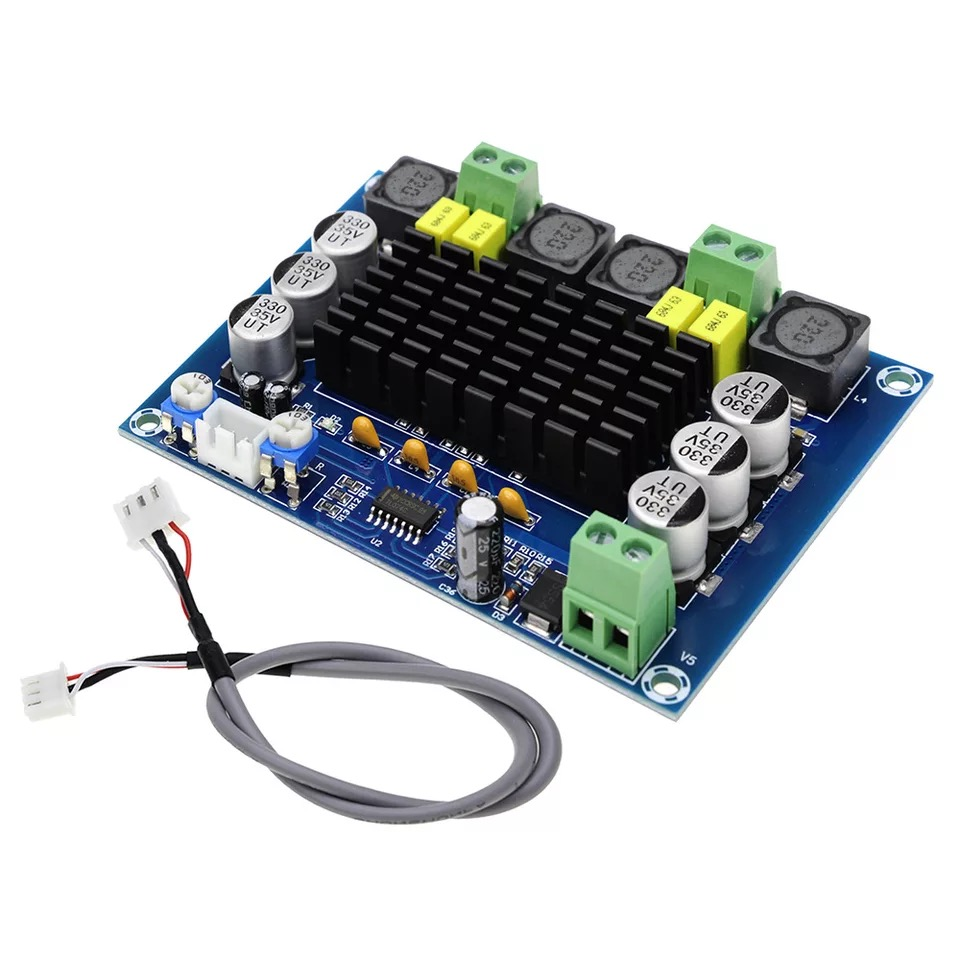 <font><b>120W</b></font>*2 TPA3116D2 Dual Channel Stereo Digital Power Audio <font><b>Amplifier</b></font> Board 12V-24V TPA3116 Class D HIFI DIY Amplificador Module image