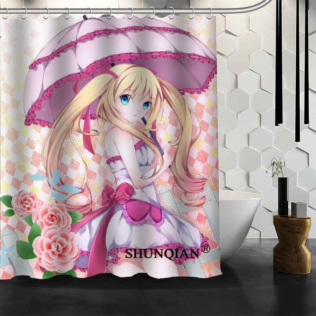 Best Nice Custom Sexy Anime Girls Shower Curtain Bath Curtain Waterproof  Fabric Bathroom Curtain MORE SIZE