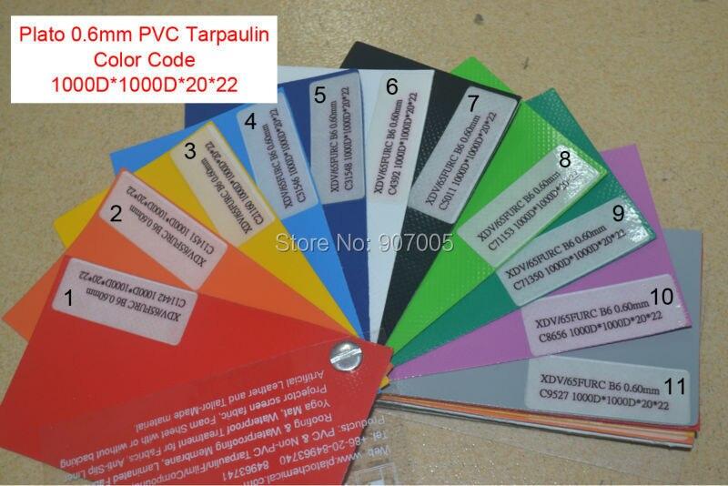 0.6mm PVC Tarpaulin Color code