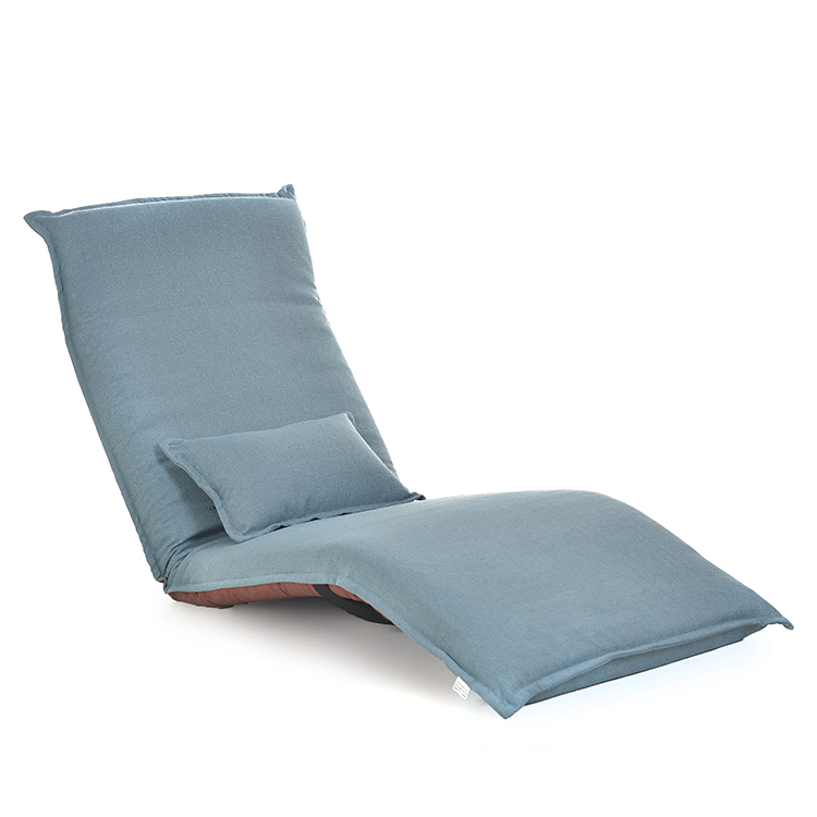 Japanese Chaise Lounge Chair Living Room Furniture Floor Seating Adjustable Foldable Upholstered Folding Lazy Lounger Sofa Bed
