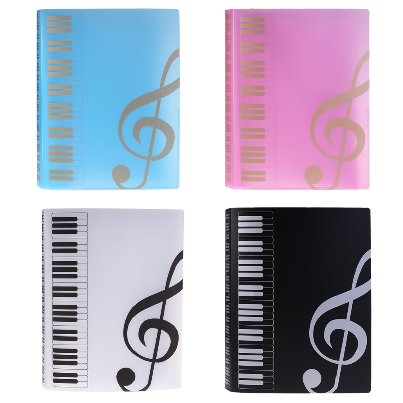 Intelligent 80 Sheets A4 Music Book Folders Piano Score Band Choral Insert-type Folder Music Supplies Waterproof File Storage Product File Folder Office & School Supplies