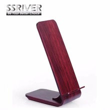 SSRIVER Quick Wireless Charger , Red Wood Grain Fast Wireless Charger for iPhone 8 8Plus X Sumsung Galaxy S6 / S8 / Note8(China)