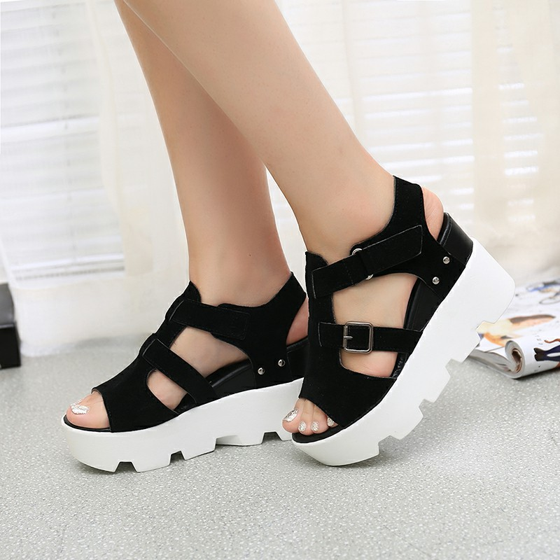 2017 summer sandals shoes high heel casual shoes