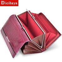 DICIHAYA модный кошелек женский бумажник, удлиненный кошелек высокого качества кошелек для монет женский кошелек на кнопках кошельки из натура...