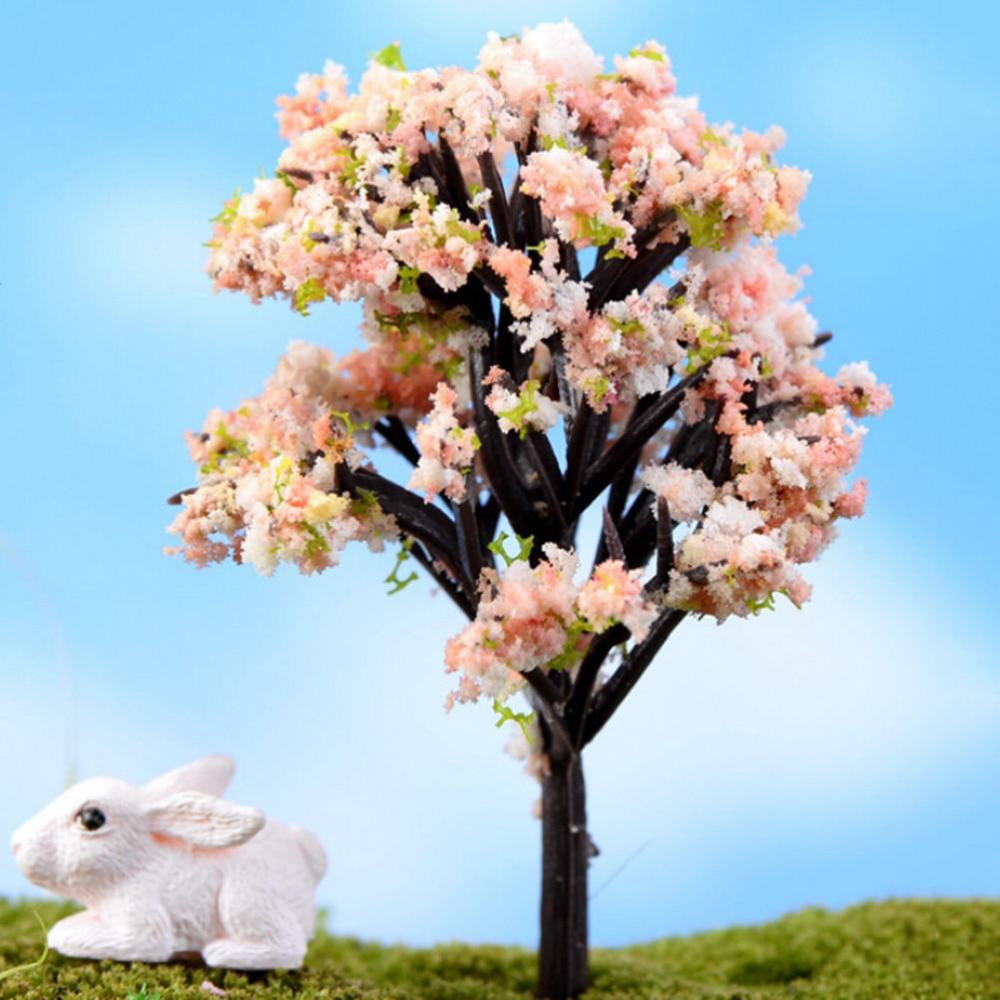 NEW Hot Sale Home Decoration Accessories Plastic Crafts Kawaii Trees For Miniature Garden Ornament Dollhouse Plant Pot Diy Craft