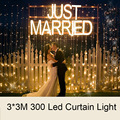 3Mx3M 300Leds Window Curtain Icicle Lights Transparent String Led Lights for Xmas Fairy Wedding Party Garden Home Decorations