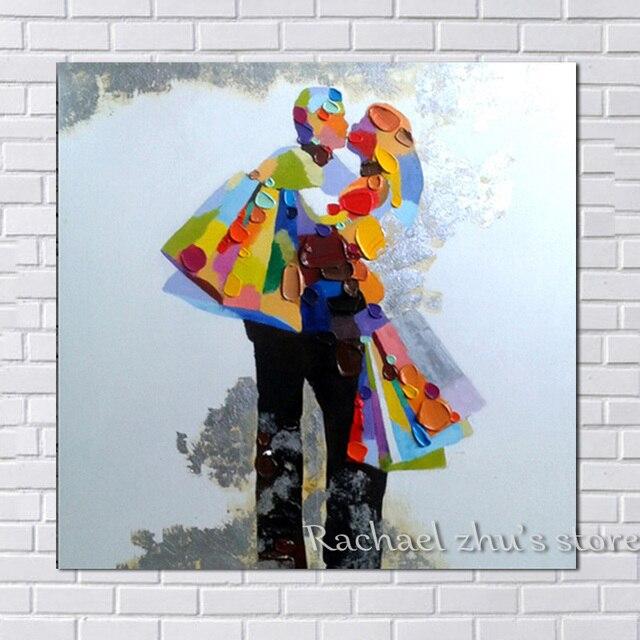 Comprar pintado a mano abstracta parejas - Cuadros de parejas ...