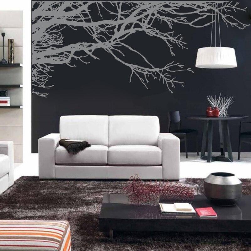 A008 Mega Stunning Baum Ast Abnehmbare Wand Kunst Aufkleber Vinyl Wandbild Home Decor wand Aufkleber für wohnzimmer Decor-in Wandaufkleber aus Heim und Garten bei  Gruppe 1