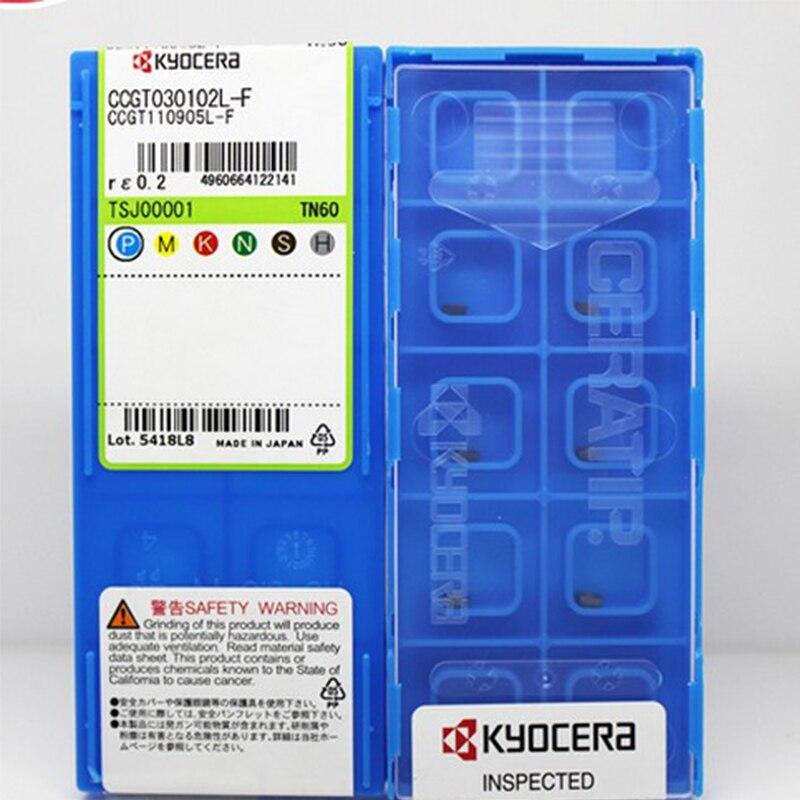 10PCS CCGT030102L CCGT040104LF TN60 Kyocera Original Inserts Internal Boring Bar Cutter Blade Tool for C04H C05H