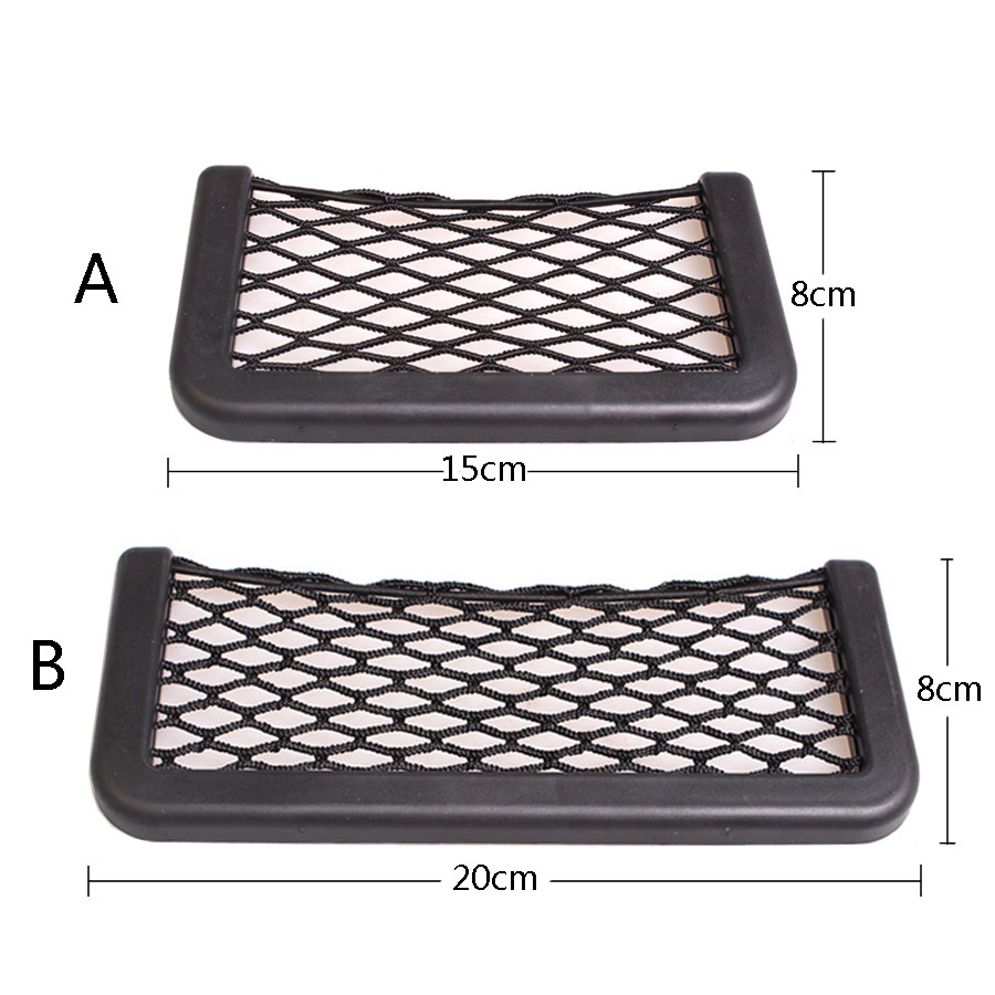 Image 3 - YCCPAUTO 1Pcs Car Organizer Storage Bag Auto Paste Net Pocket Phone Holder Car Accessories 20*8CM 8*15CM Universal-in Nets from Automobiles & Motorcycles