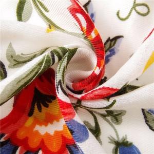 Image 5 - Moda feminina colorido flor impressão estilo nacional viscose cachecol borla xales e envoltórios pashmina bandana muçulmano hijab sjaal