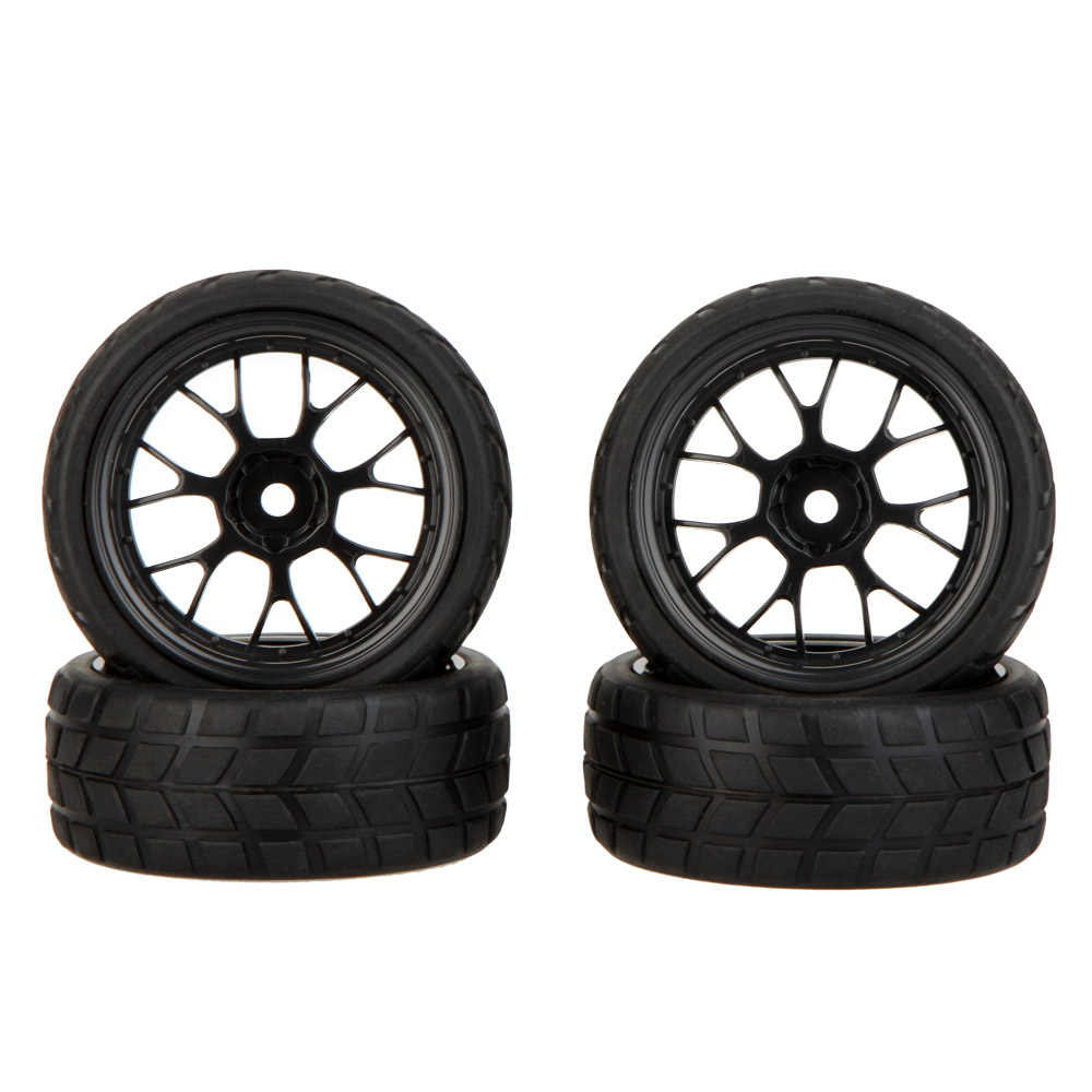 GoolRC 4 Pcs High Performance 1/10 Rally Auto Velg en Band 20101 voor Traxxas Tamiya HPI Kyosho RC Auto