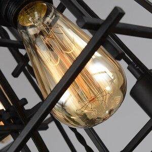 Image 5 - Vintage Khung Sắt Đèn Chùm Edison Bóng Đèn E27 Giá Đỡ Đèn Chùm Nhà Hàng Thanh Cafe Phòng Khách Retro Công Nghiệp Phong Cách Đèn Chùm Đèn Hắt