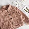 2017 Оптовая Горячие Мода Весна Мальчики Девочки Хлопок Длинный Рукав Розовый Пальто выбрать размер