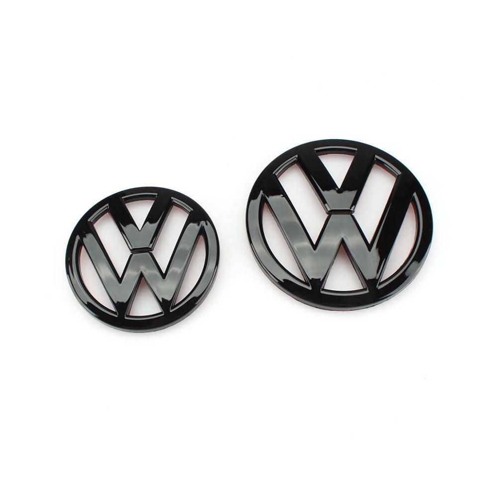 110 мм глянцевый черный логотип на переднюю решетку + 90 мм Задняя Крышка багажника, замена эмблемы для VW Volkswagen Scirocco MK3