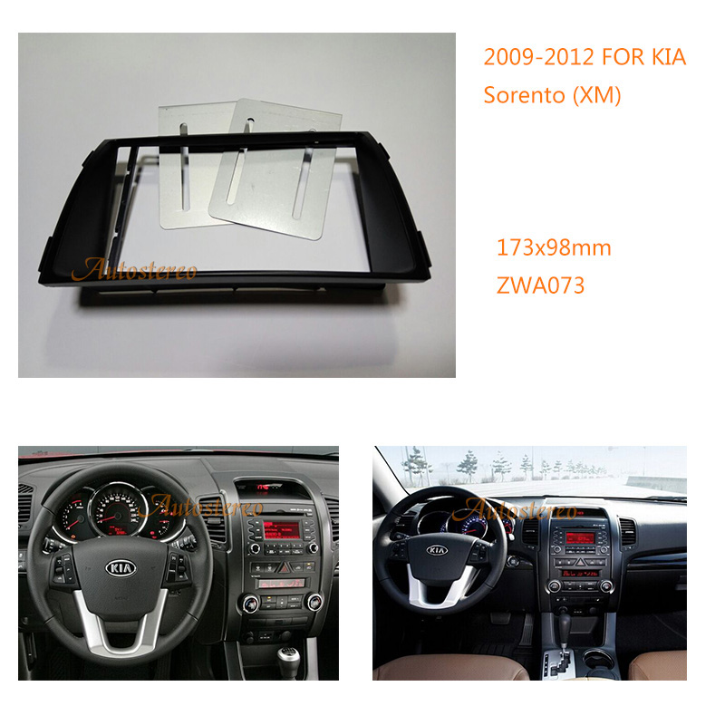 Car Stereo Fitting Near Me >> Us 24 84 14 Off Car Radio Fascia For Kia Sorento Xm 2009 2012 Fitting Kit Installation Audio Fitting Adaptor Facia Panel Dash Mount Adapter In