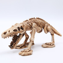 Animal Dinosaur Fossil Bone Fashion Biker Punk Skull fancy Creative toys Skeleton model decor collection Aquarium ornaments 20CM