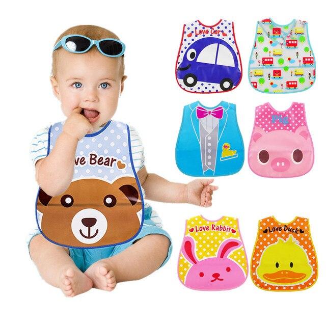 Babero de EVA Bandana sin lavado de dibujos animados a prueba de agua para bebés 1-6 años de edad bufandas para niños